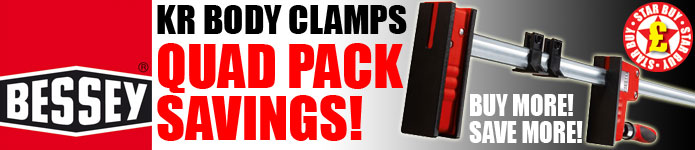 Bessey KR Body Clamps - Quad Pack Savings!