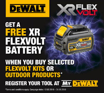 Dewalt FREE XR FLEXVOLT Battery campaign