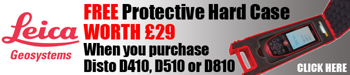 Free Hard Case worth £29 with Disto D410, D510, D810