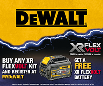 Buy any FLEXVOLT kit and claim a FREE battery