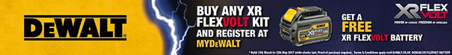 Buy any FLEXVOLT Kit and claim a FREE Battery - Click Here