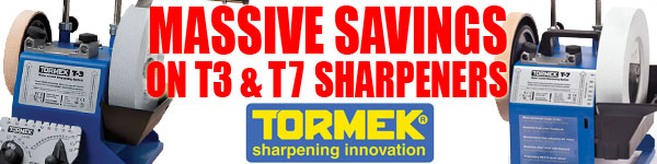 Massive Savings on Tormek T3 & T7