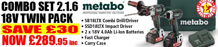 Metabo Combo Set 2.1.6 18V Twin Pack Now Only £289.95inc