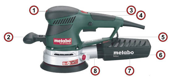 metabo sxe450 turbo tec 240v duo orbit 2 8 or action sander metaloc case plus assorted. Black Bedroom Furniture Sets. Home Design Ideas