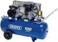 DRAPER 100L 230V 2.2kW (3hp)  Belt-Driven Air Compressor £389.95 Features:•   2.2kw (3hp)•   wheels And Transport Handle•   carton Packed On Palletspecification:air Displacement   ...&nbs