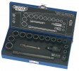 "DRAPER Expert 18 Piece 3/8"" Square Drive Hi-Torq® Impact Socket Set £31.79 Expert Quality, 6 Point Sockets And Accessories Forged From Chrome Vanadium Steel Hardened, Tempered And Chemically Blacked For Corrosion Protection. Hole For Accessory Spring Loaded Ball. For Use Wit"