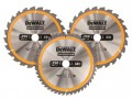 DEWALT DT1963 Construction Circular Saw Blade 3 Pack 250 x 30mm x 24T/48T £49.99 The Dewalt Dt1963 Construction Circular Saw Blades Have Been Designed For Use With Stationary Machines To Cut Softwoods And Composite Materials. Their Fast, Smooth Cutting Action And Durable Construct