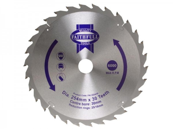 FAITHFULL TCT CIRC SAW BLADE 250 X 30 X 24T