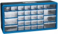 DRAPER 30 DRAWER STORAGE CABINET/ORGANISER - 500 x 160 x 255MM £19.99 Impact-resistant Plastic Ideal For Use In The Workshop Or Home. Latching Facility To Prevent Drawer Fall Out. Slotted Holes In Cabinet To Facilitate Wall Mounting.