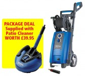 NILFISK-ALTO P150.2-10 X-TRA 240VOLT PRESSURE WASHER 150 BAR PACKAGE WITH PATIO CLEANER WORTH £39.95 £379.95