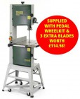 RECORD POWER BS350-S 240V FLOOR STANDING BANDSAW WITH STAND PLUS PEDAL WHEEL KIT & 3 EXTRA BLADES WORTH �114.98! �699.00