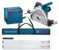 BOSCH GKT55CE 240V 1400W PROFESSIONAL PLUNGE SAW & 2 x 1.6M GUIDE RAIL & CONNECTOR + GUIDE RAIL BAG £439.95 Bosch Gkt55ce 1400w Professional Plunge Saw 240v