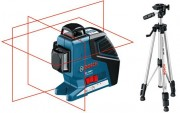 BOSCH GLL3-80 P 360 DEGREE MULTI CROSS LINE LASER SUPPLIED WITH TRIPOD �336.95