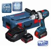 BOSCH GSR18VE2-LI 18V ROBUST SERIES DRILL/DRIVER WITH 2 x 4.0Ah Li-ION BATTERIES & L-BOXX £349.95 Bosch Gsr18ve2-li 18v Robust Series Drill/driver With 2 X 4.0ah Li-ion Batteries & L-boxx