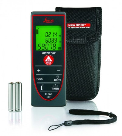 Leica Disto D2 Indoor Laser Meter 60 Meter with 10 memory
