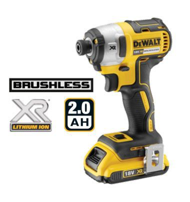 Dewalt DCF887D2 18V Brushless G2 3Sp Impact Driver with 2 x 2.0Ah Batteries