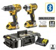 Dewalt DCK266D2B XR 18V Brushless IA Kit DS150 2.0Ah (Combi + Impact) - Bluetooth Packs  was £409.95 £359.95 Dewalt Dck266d2b Xr 18v Brushless Ia Kit Ds150 2.0ah (combi + Impact) - Bluetooth Packs 