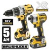 Dewalt DCK276P2 XR18V Brushless Twin Pack DCD996 Combi + DCF887 Impact Driver 2 x 5.0Ah Batteries & Tough System Case £379.95 Dewalt Dck276p2 Xr18v Brushless Twin Pack Dcd996 Combi + Dcf887 Impact Driver 2 X 5.0ah Batteries & tough System Case