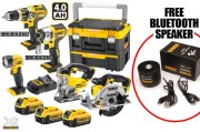 DEWALT DCK550M3T 18V 5 Piece Kit 3 x 4.0Ah Li-Ion (Inc. Brushless Combi & Impact Driver  + FREE BLUETOOTH SPEAKER �689.95