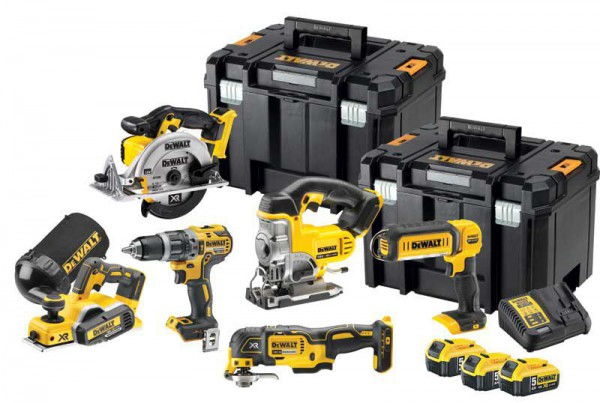 DeWALT DCK665P3T-GB 18V 5.0Ah 6 Piece Kit With 3 x 5.0Ah Batteries