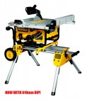 DEWALT DW745 240VOLT PORTABLE TABLE SAW & DE7400 ROLLING WORK STATION £549.95