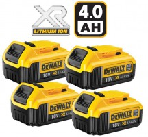 Dewalt DCB182 18V 4 x 4.0Ah XR-Lion Battery (PK4) £199.95