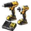 Dewalt DCK2059D2T 18V XR Brushless Drill/Driver & Impact Driver Twin Pack 2 x 2.0Ah Batteries, Charger & T-Stak Case £219.95 Dewalt Dck2059d2t 18v Xr Brushless Drill/driver & Impact Driver Twin Pack 2 X 2.0ah Batteries, Charger & T-stak Case