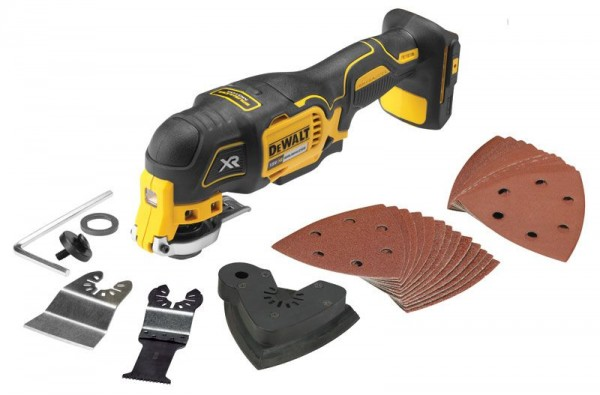 DEWALT DCS355N 18V CORDLESS MULTI-TOOL BODY ONLY WITH 29 ACCESSORIES