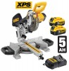 Dewalt 18V DCS365P2 184mm Cordless Mitre Saw with XPS with 2 x 5.0Ah Batteries £549.95 Dewalt 18v Dcs365p2 184mm Cordless Mitre Saw With Xps With 2 X 5.0ah Batteries