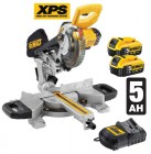 Dewalt 18V DCS365P2 184mm Cordless Mitre Saw with XPS with 2 x 5.0Ah Batteries �549.95
