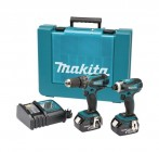 MAKITA DLX2012X 18VOLT LXT 2 PIECE COMBI DRILL & IMPACT DRIVER KIT WITH 2 x 3Ah LI-iON BATTERIES �279.95