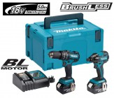 MAKITA DLX2002TJ 18V 5.0Ah BRUSHLESS TWIN PACK DHP480 & DTD129 (2 x 5.0Ah) & MAKPAC CASE �409.95