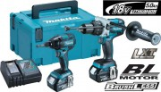MAKITA DLX2040TJ 18V BRUSHLESS TWIN PACK DHP481 & DTD129 (2 X 5.0Ah LI-iON) & MACPAK CASE �419.95
