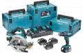 Makita DLX2140PMJ 18V LXT DHS710 & DHP482 (4x18v 4.0Ah) Twin Port Charger & 3 x MakPac Cases  £499.00 Makita Dlx2140pmj 18v Lxt Dhs710 & Dhp482 (4x18v 4.0ah) Twin Port Charger & 3 X Makpac Cases 