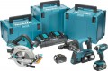 Makita DLX3049PTJ LXT 3PC Combo Kit DHR264, DHS710 Twin 18v = 36V, DTD152 & 4 x 5.0Ah & 3 x Cases £799.95 Models In Kit