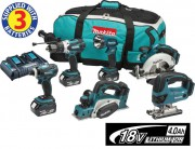 MAKITA DLX6012PM LXT 6 Piece Kit  With 3 x 4.0Ah Li-Ion Batteries, Dual Port Charger £699.95
