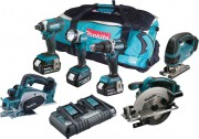 MAKITA DLX6067PT LXT 6 Piece Kit  With 3 x 5.0Ah Li-Ion Batteries, Dual Port Charger £749.95