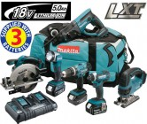 Makita DLX6068PT 18V LXT 6 Piece Kit  With 3 x 5.0Ah Li-Ion Batteries, Dual Port Charger £639.95