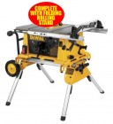 DEWALT DW744XP 240V ELECTRONIC PORTABLE TABLE SAW 2,000W & FOLDING ROLLING STAND �775.00
