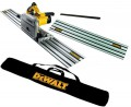 DEWALT DWS520K 240V PLUNGE SAW +  2 x 1.5M RAILS + CONNECTOR & GUIDE RAIL BAG £369.95 Dewalt Dws520kr-gb 240v Precision Plunge Saw Includes 1.5m Guide Rail