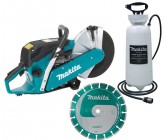 MAKITA EK6100 305MM 61CC PETROL DISC CUTTER 12IN PLUS DIAMOND BLADE & 15LT WATER TANK & HOSE! �499.95
