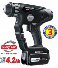 PANASONIC BLACK EDITION 18v DUAL VOLTAGE SDS+ HAMMER DRILL  (3 x 4.2Ah) BLACK EDITION �389.95