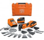 Fein AFSC18QSL 18V SuperCut Brushless Multi-Tool StarLock Max 3 x 5.0Ah Batteries, Charger , Case & Carpentry Set £459.95