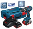 BOSCH GSR18V-LI 18V DYNAMIC SERIES DRILL/DRIVER WITH 2 x 4.0Ah Li-ION BATTERIES & L-BOXX £229.95 Bosch Gsr18v-li 18v Dynamic Series Drill/driver With 2 X 4.0ah Li-ion Batteries & L-boxx