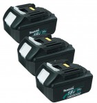 MAKITA 194204-5 3 x 18VOLT 3.0Ah LITHIUM-ION BATTERY (PACK OF 3) £189.95
