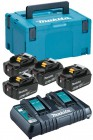 Makita 197627-6 18v 4 x 5.0Ah Batteries With Twin Port Charger & MakPac Case3 £339.95