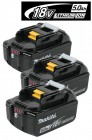 Makita BL1850B 18V 5.0Ah Li-ion Battery Pack With LED Battery Indicator (PACK OF 3) £194.95