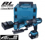 MAKITA DLX 18V 2pc BRUSHLESS KIT WITH 2 x 4.0Ah BATTERIES & 2 x MAKPAC CASES �449.95
