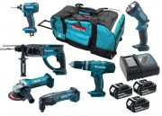 MAKITA DLX6021M LXT 6 Piece Kit  With 3 x 4.0Ah Li-Ion Batteries, Charger & Wheeled Bag £599.95
