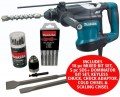 MAKITA HR3210C (S-MAK32C VERSION) 240V 850W SDS PLUS ROTARY HAMMER WITH ACCESSORY KIT £479.95 Makita Hr3210c (s-mak32c Version) 240v 850w Sds Plus Rotary Hammer With Accessory Kit